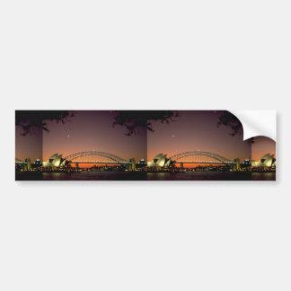 Beautiful Sunset: Sunset at Sydney Harbor, Sydney, Bumper Sticker
