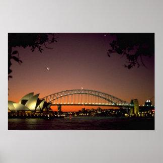 Beautiful Sunset: Sunset at Sydney Harbor, Sydney, Poster