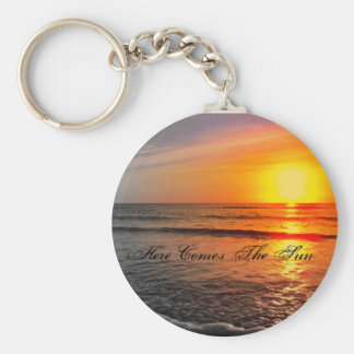 Beautiful-Sunset-sunsets-and-sunrises-1290022-1... Basic Round Button Keychain