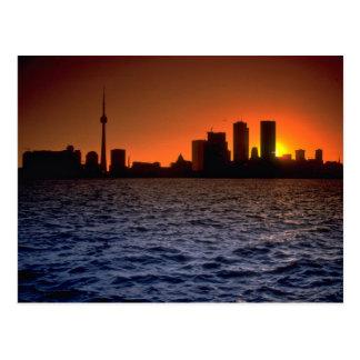 Beautiful Sunset: Toronto skyline at sunset, Ontar Postcard