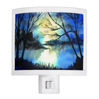 Beautiful Sunset Watercolour Landscape Night Light