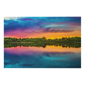 Beautiful sunset wood wall art