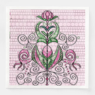 Beautiful surreal Flower Design Disposable Napkin
