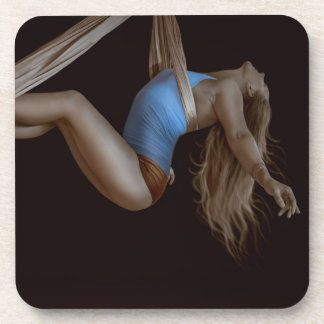 Beautiful Suspended Aerial Silk Performer Coaster