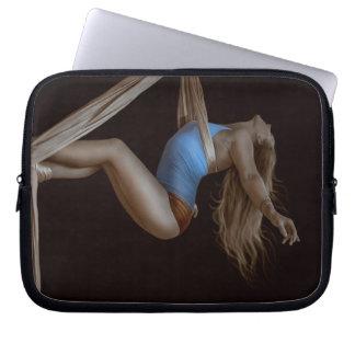 Beautiful Suspended Aerial Silk Performer Laptop Sleeve
