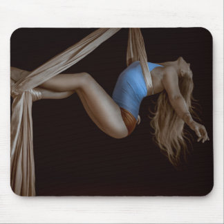 Beautiful Suspended Aerial Silk Performer Mouse Pad
