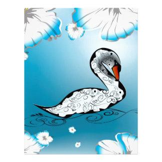 Beautiful swan letterhead design
