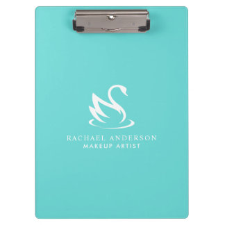 Beautiful Swan Minimalist Logo and Name Clipboard