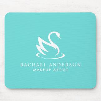 Beautiful Swan Minimalist Logo Mouse Pad