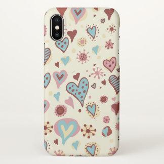 beautiful  swirl love hearts iPhone x case