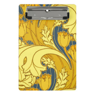 Beautiful Swirling Blue Gold Floral