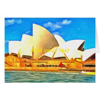 Beautiful Sydney Opera House Card