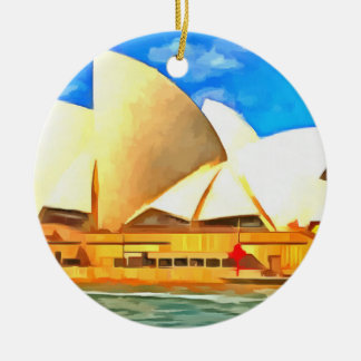 Beautiful Sydney Opera House Ceramic Ornament