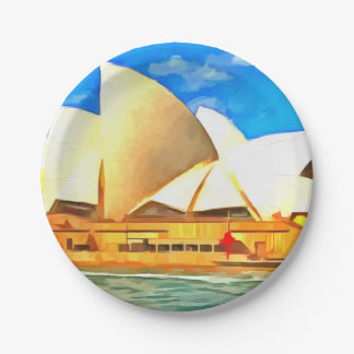 Beautiful Sydney Opera House Paper Plate