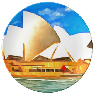 Beautiful Sydney Opera House Plate