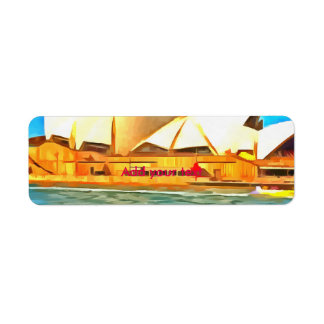 Beautiful Sydney Opera House Return Address Label