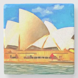 Beautiful Sydney Opera House Stone Coaster