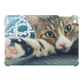 Beautiful Tabby Cat with Green Eyes iPad Mini Case