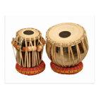 Beautiful Tabla Set Indian Percussion Instrument Postcard