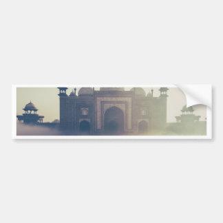 Beautiful Taj Mahal in a foggy day Bumper Sticker