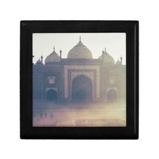 Beautiful Taj Mahal in a foggy day Gift Boxes