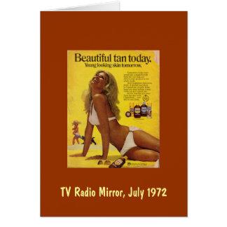 Beautiful Tan Today...Young-looking Skin Tomorrow Card