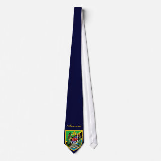Beautiful Tanzania Flag Coat Arm Tie