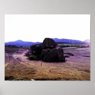 Beautiful Tapalpa Rocks Poster