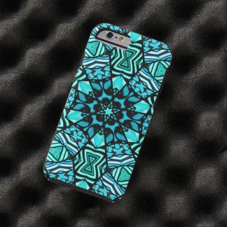 Beautiful Teal Aqua Turquoise Ethnic Mosaic Tough iPhone 6 Case