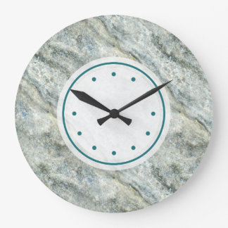 Beautiful Teal Colored Marble Stone Large Clock