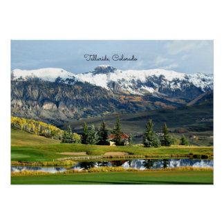 Beautiful Telluride, Colorado Landscape Poster