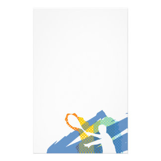Beautiful Tennis Stationary / Letterhead