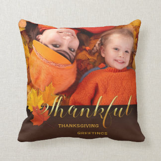 Beautiful Thanksgiving Photo Throw Pillow