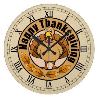 Beautiful Thanksgiving Wall Clock