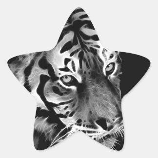 Beautiful Tiger Black White Africa Star Sticker