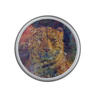 Beautiful Tiger Bright Color Grunge Speaker