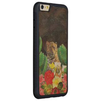 Beautiful Tiger Cactus Floral Oil Painting Carved® Maple iPhone 6 Plus Bumper Case