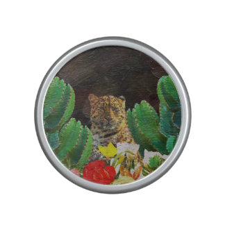 Beautiful Tiger Cactus Floral Oil Painting Speaker
