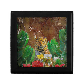 Beautiful Tiger Floral Palette Oil Jewelry Box