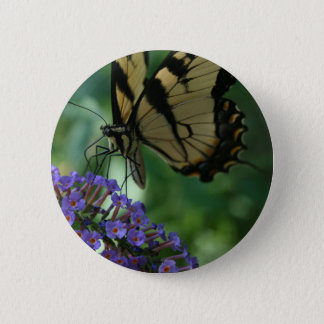 Beautiful Tiger Swallowtail Butterfly on Flower 2 Inch Round Button