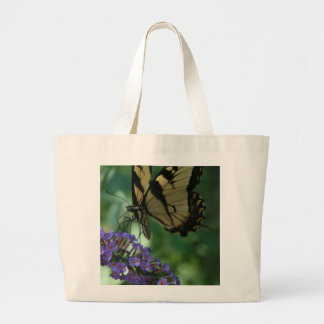 Beautiful Tiger Swallowtail Butterfly on Flower Large Tote Bag