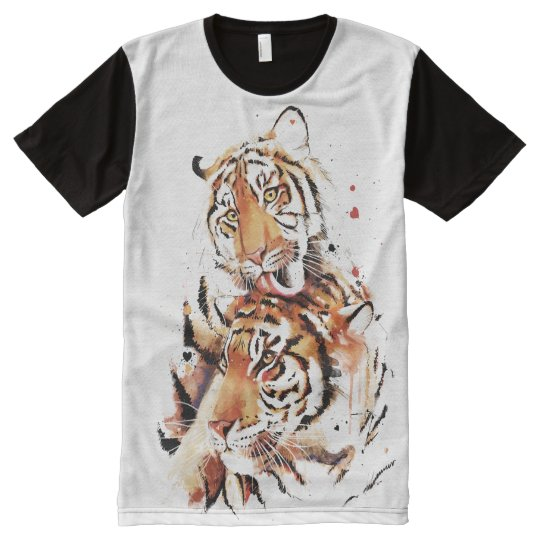 Beautiful tigers, big cats All-Over-Print T-Shirt