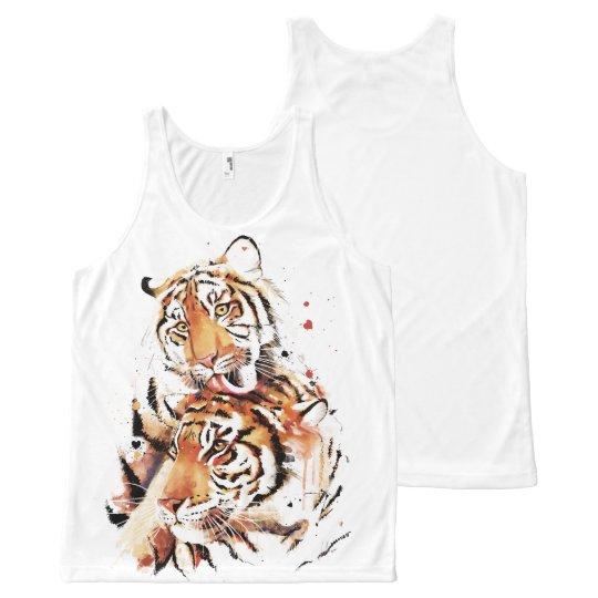Beautiful tigers, big cats All-Over-Print tank top