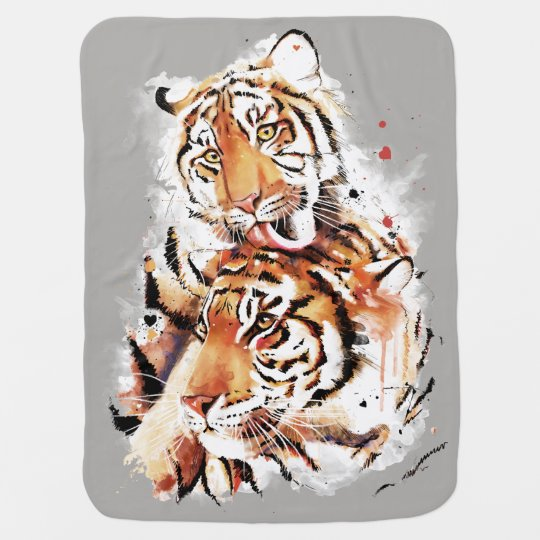 Beautiful tigers, big cats baby blanket