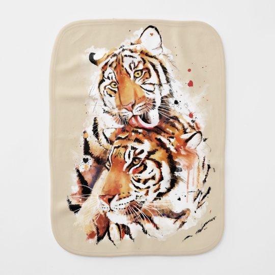 Beautiful tigers, big cats burp cloth