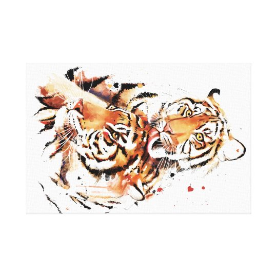 Beautiful tigers, big cats canvas print