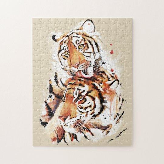 Beautiful tigers, big cats puzzle