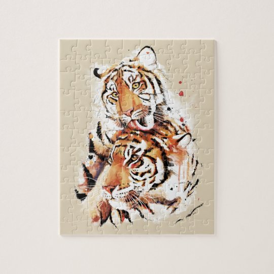 Beautiful tigers, big cats puzzles