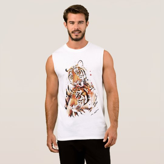 Beautiful tigers, big cats sleeveless shirt
