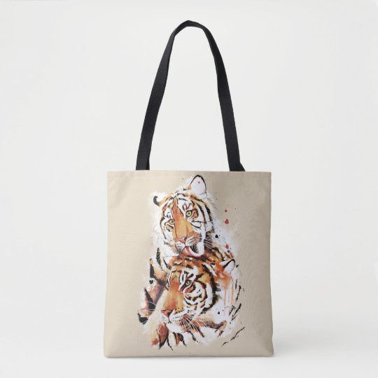 Beautiful tigers, big cats tote bag
